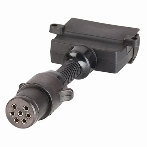 Trailer-Adaptor-7-Pin-Small-Round-Plug-to-7-Pin-Flat-Socket